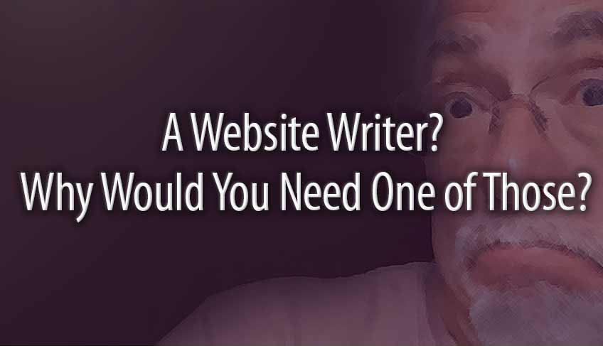 A Website Writer?  Why Would You Need One of Those?